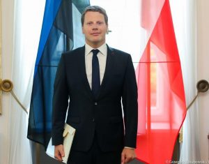 Ambassador Extraordinary and Plenipotentiary of the Republic of Estonia to the Republic of Poland Martin Roger.