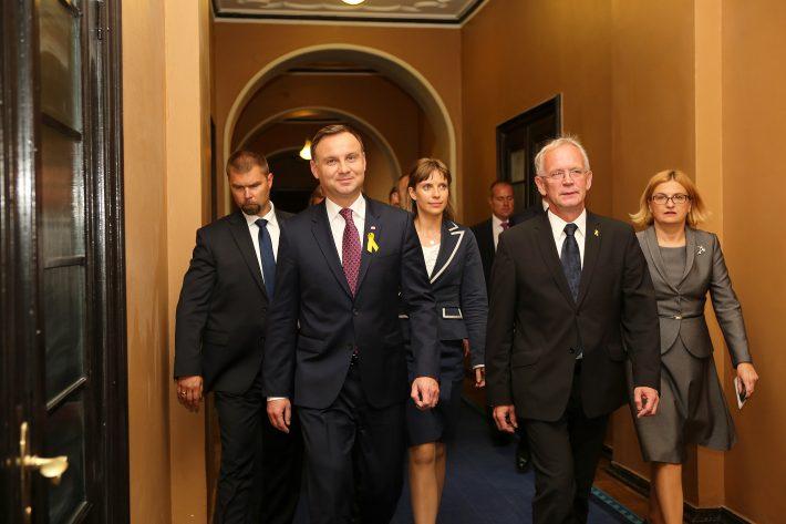 Poola Vabariigi President Andrzej Duda oma esimesel ametlikul välisvisiidil presidendina Tallinnas
