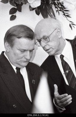 Lech Walesa ja Lennart Meri. Foto: Rahvusarhiiv