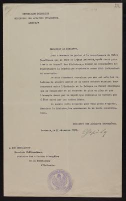 Poola poolt Eestile üle antud tunnustamise akt