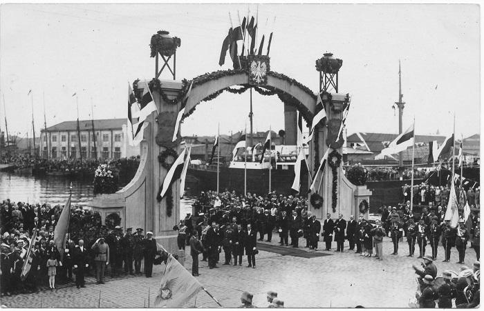 President Ignacy Mościcki auks püstitatud auvärav. 10.08.1930. Foto erakogust.