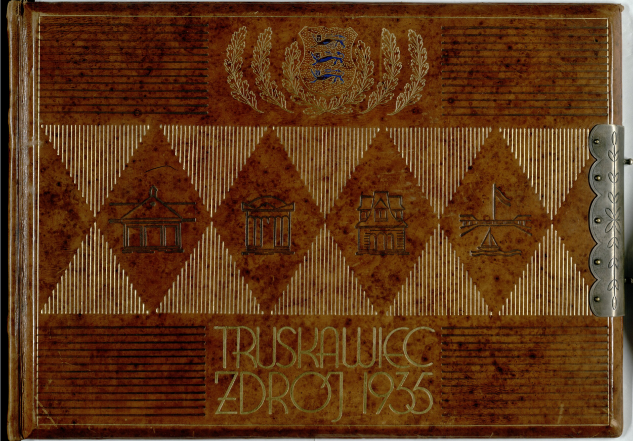 Riigivanem K. Pätsile kingitud album tema viibimise puhul ravimisel Truskawiec'is (nüüd Truskavets, Ukraina) 07.05-04.06.1935. Allikas: RA, ERA.1278.1.317.